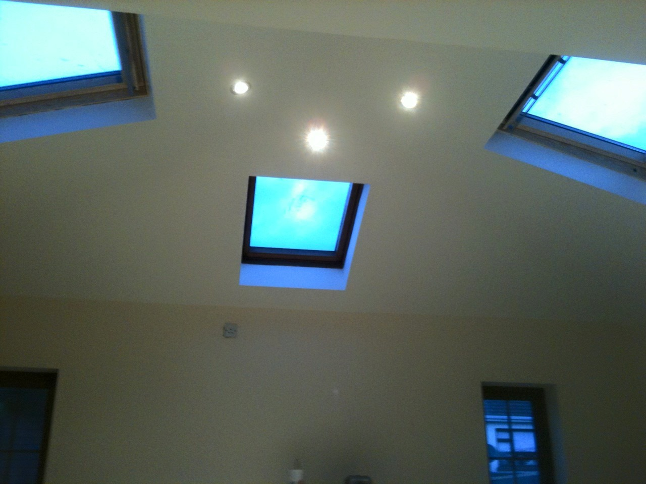 Image shows a recent plastering project completed by our plasterer in Withdean